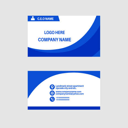 Beautiful business and visiting card design template.