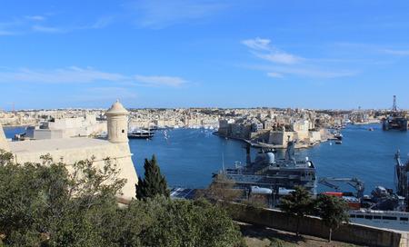 Three Cities as seen from Valletta, Vittoriosa, Senglea, Cospicua, Malta