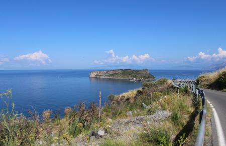 Dino Island and Blue Sea, Dino Island, Praia a Mare, Calabria, South Italy Stock Photo