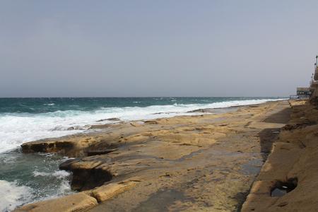 Big Rocks, Cliff Waves, Mediterranean Sea, Republic of Malta