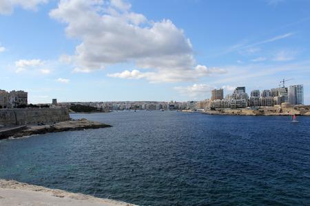Sliema Promenade, Malta Banque d'images