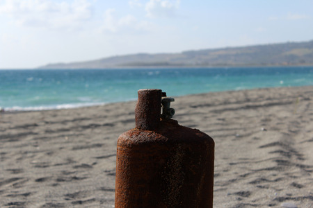 Gas Cylinder on the Beach