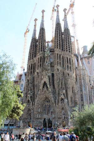 Sagrada Familia Basilica, Church of Barcelona, ??Spain Editorial