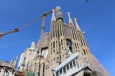 Sagrada Familia Basilica, Church of Barcelona, ??Spain Stock Photo