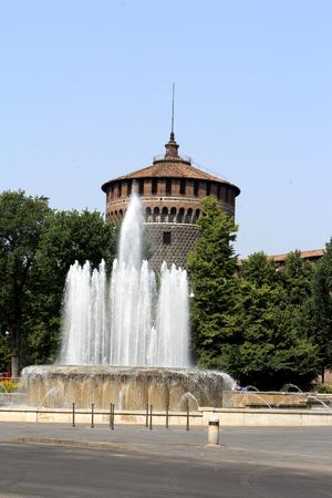 Sforza Castle, Castello Sforzesco, Milan, Italy