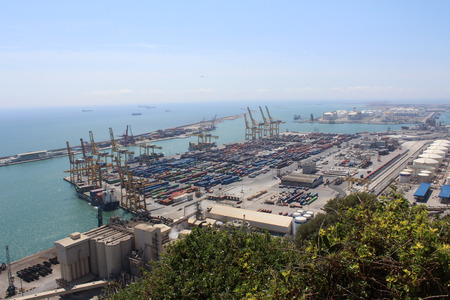 Barcelona Port Panorama, Spain