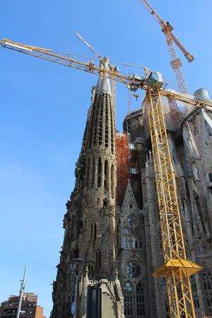 Sagrada Familia Basilica, Church of Barcelona, Spain Éditoriale