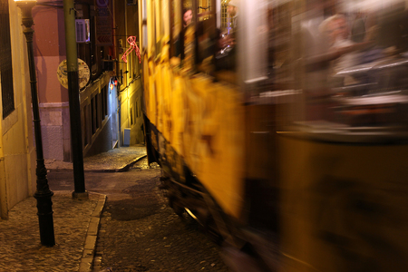 Typical Old Tram, Lisbon, Portugal, Europe