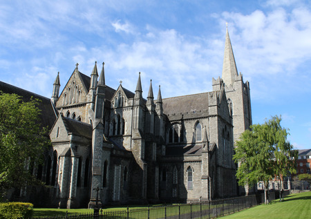 St. Patrick's Cathedral, Dublin, Ireland 스톡 콘텐츠