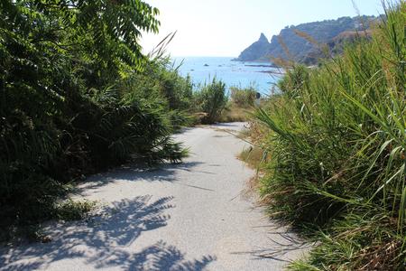 Sea, and Old Road Reklamní fotografie