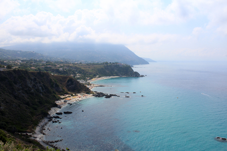 Sea, Coastline and Cliff, Summer Time, Nature Scene, Capo Vaticano, Calabria, Vibo Valentia