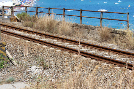 Old Railway and Sea in South Italy