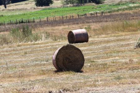 Hay Bales in Mountain Farm