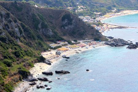 ionian: Sea, Coastline and Cliff, Summer Time, Nature Scene, Capo Vaticano, Calabria, Vibo Valentia