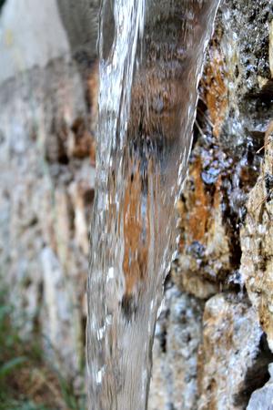 Natural Waterfall and Wall, Nature Scene