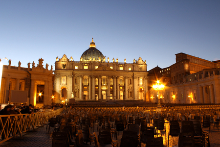 St. Peters Basilica, Vatican City, Rome, Italy Editorial