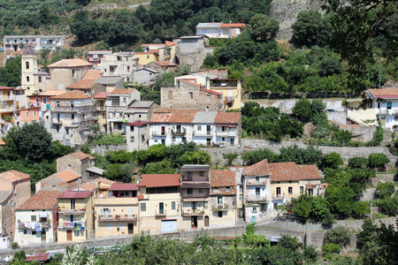 rundown: Old Houses, Medieval Little City, South Italy