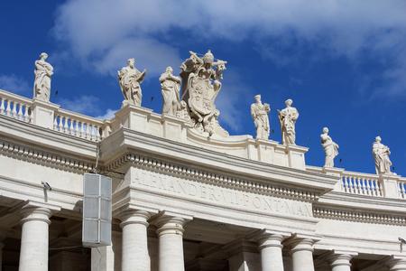 St. Peter's Basilica Colonnade, Rome, Italy Zdjęcie Seryjne