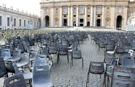 Chairs, St. Peter's Basilica Square Vatican City, Rome, Italy