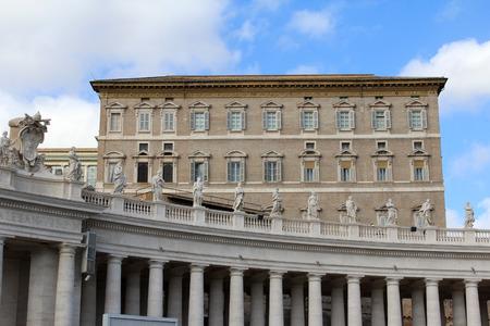 Pope's Windows, St. Peter's Basilica, Vatican City, Rome, Italy Zdjęcie Seryjne