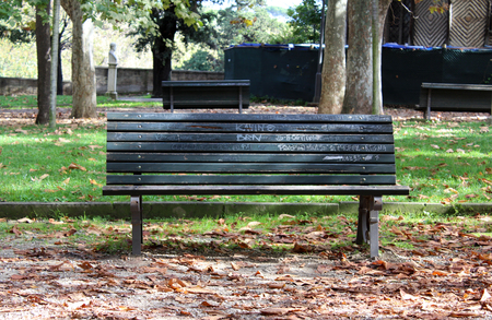 Old Bench in the Park