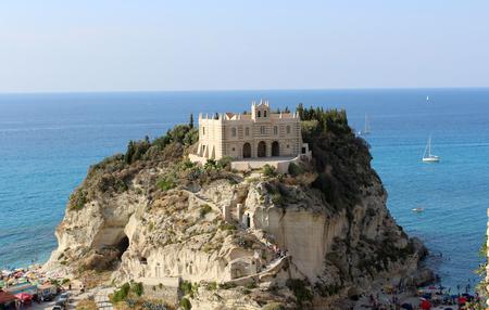 Tropea, Church on the Rocks, South Italy, Mediterranean Sea Zdjęcie Seryjne