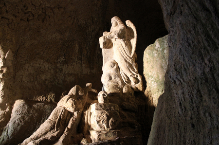 Piedigrotta, Rock-Hewn, Church in the Rocks, Pizzo Calabro, Calabria, South Italy