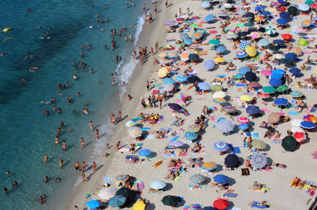 People on the Beach, Summer Time, Beautiful Blue Sea