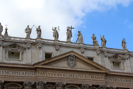 St. Peters Basilica, Vatican City, Rome, Italy Stock Photo