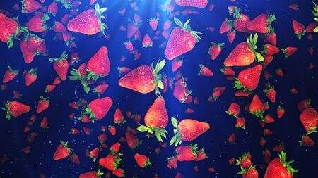 Red Strawberries Illustration Background