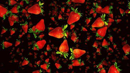 Red Strawberries Illustration Background
