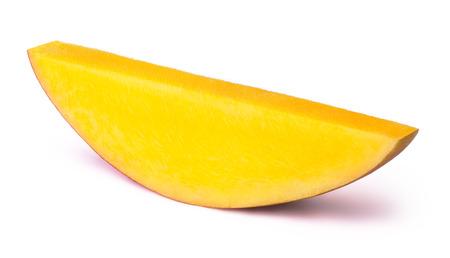 mango slice: Mango slice isolated on white background, with clipping path Stock Photo