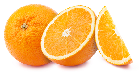 perfectly: Perfectly retouched oranges isolated on white background whith clipping path
