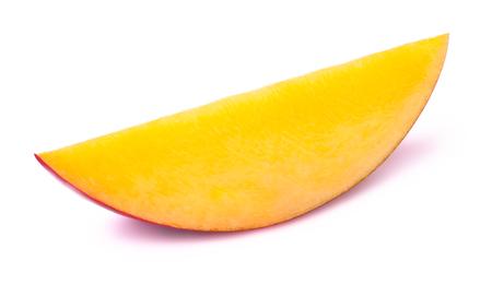 mango slice: Mango slice isolated on white background