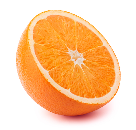 perfectly: Perfectly retouched sliced orange isolated on the white background with clipping path