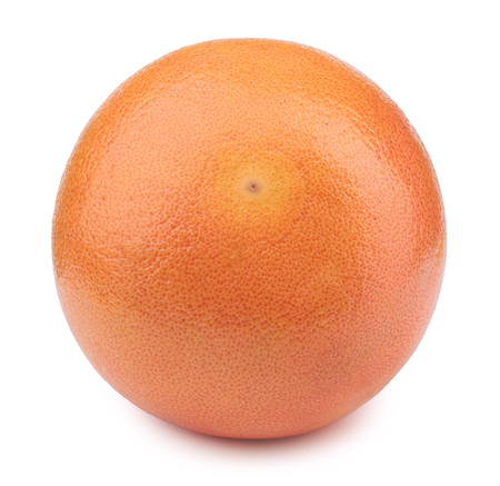 retouched: Perfectly retouched whole grapefruit isolated on the white background with clipping path