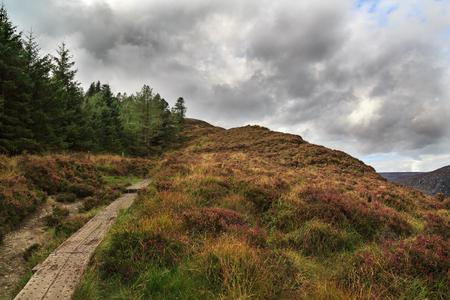 Amazing Mountain road in autmn Ireland looks like stirway to heaven