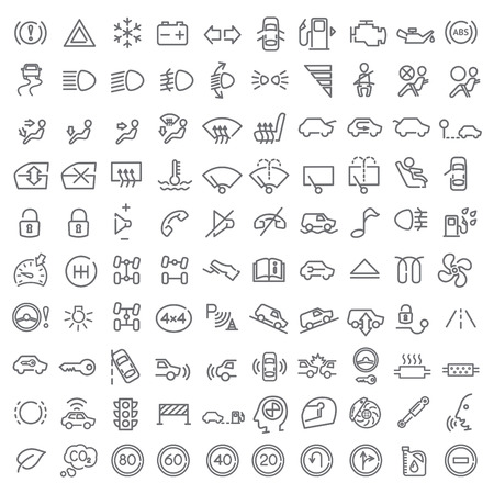 100 icons set for web design and user interface Vector