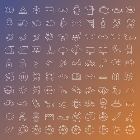 identifiable: 100 vector line icons set for web design and user interface in flat graphic style. More lighter lines then ever, nice detail and easily identifiable.