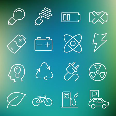 Vector thin line icons set for web design and user interface in applications made in flat graphic style. Nice detail and easily identifiable. Ideal for clean design. Vector