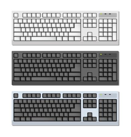 escape key: Vector Photo-realistic Keyboards Set