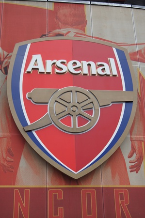 Arsenal Shield on Emirates Stadium