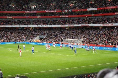 Arsenal winning 1-0 against Queen Park rangers