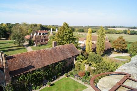 tudor: Traditional Tudor and Oast Buildings set in formal gardens