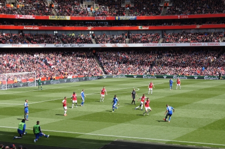 Arsenal V Chelsea 0-0 draw footballsoccer match played on 21st April 2012, Emirates Stadium,  London, England