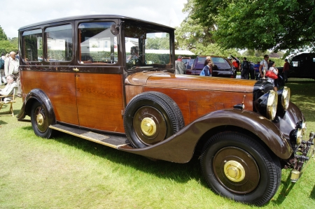 30th June 2012 at Goodwood Festival of Speed, West Sussex, England displayed 1937 Daimler 4.5 litre V32 Shooting Brake owned by King George VI for shooting parties at the Royal country estates