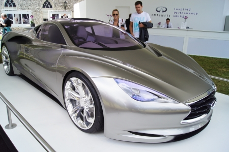 infiniti: 30th June 2012 at Goodwood Festival of Speed, West Sussex, England. Infiniti Emerg-E plug in hybrid supercar