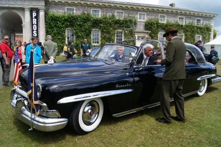 eisenhower: 30th June 2012 at Goodwood Festival of Speed, West Sussex, England displayed 1950 Lincoln Cosmopolitan Limousine with Bubbletop Presidential car for Truman and Eisenhower Editorial