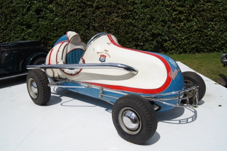 prince charles of england: 30th June 2012 at Goodwood Festival of Speed, West Sussex, England displayed 1955 Imperial Midget Racer a gift to Prince Charles for his seventh birthday