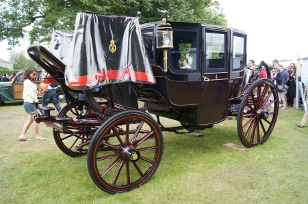 king edward: 30th June 2012 at Goodwood Festival of Speed, West Sussex, England displayed 1902 King Edward VII Town Coach